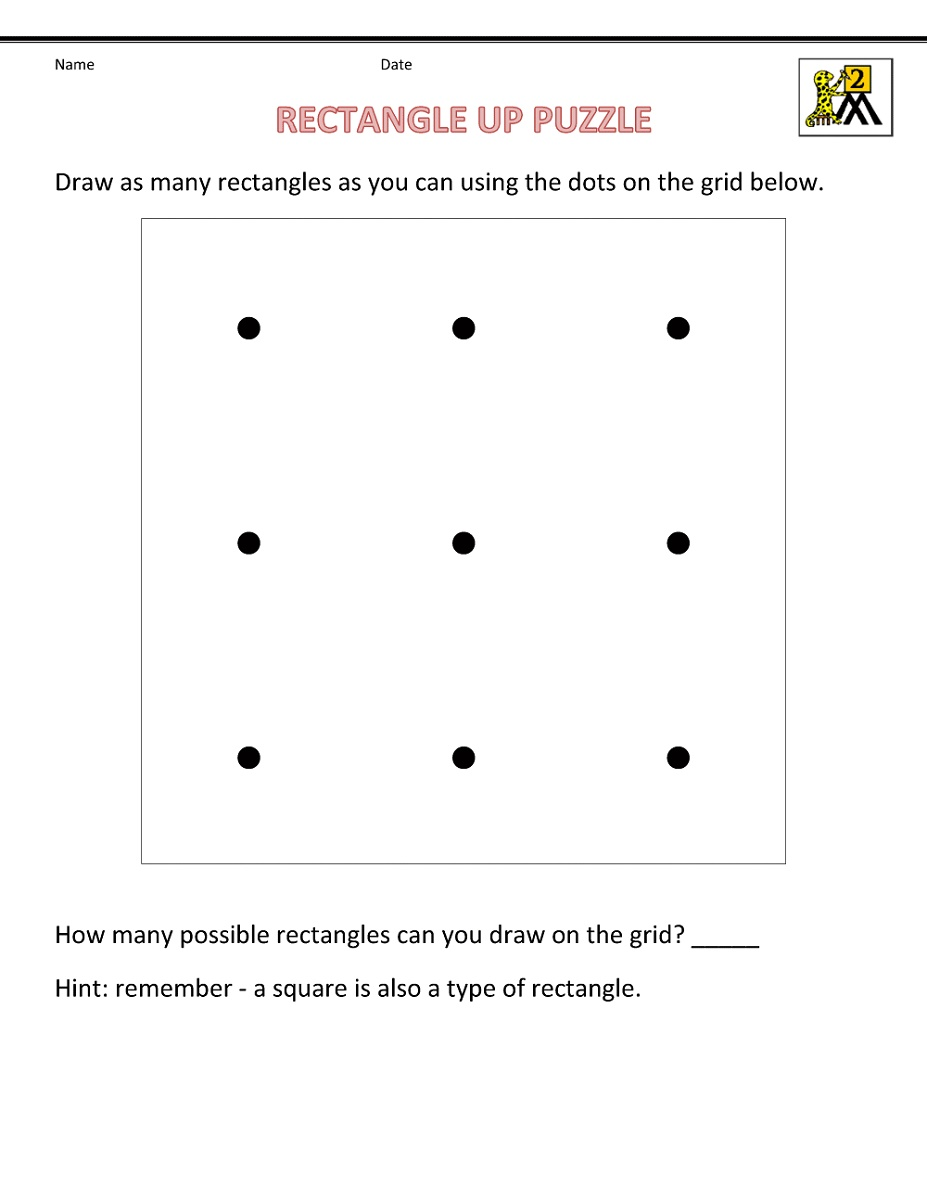 Printable Activities For 6 Year Olds Math Puzzle