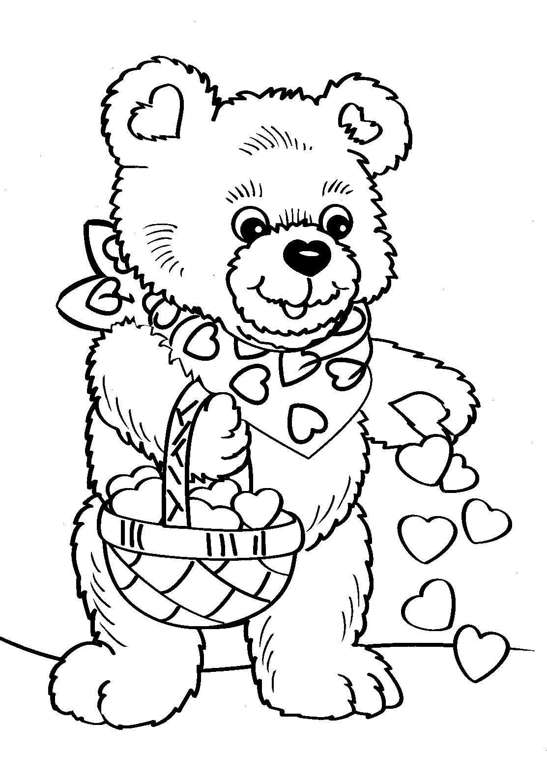 Printable Coloring Pages Valentine