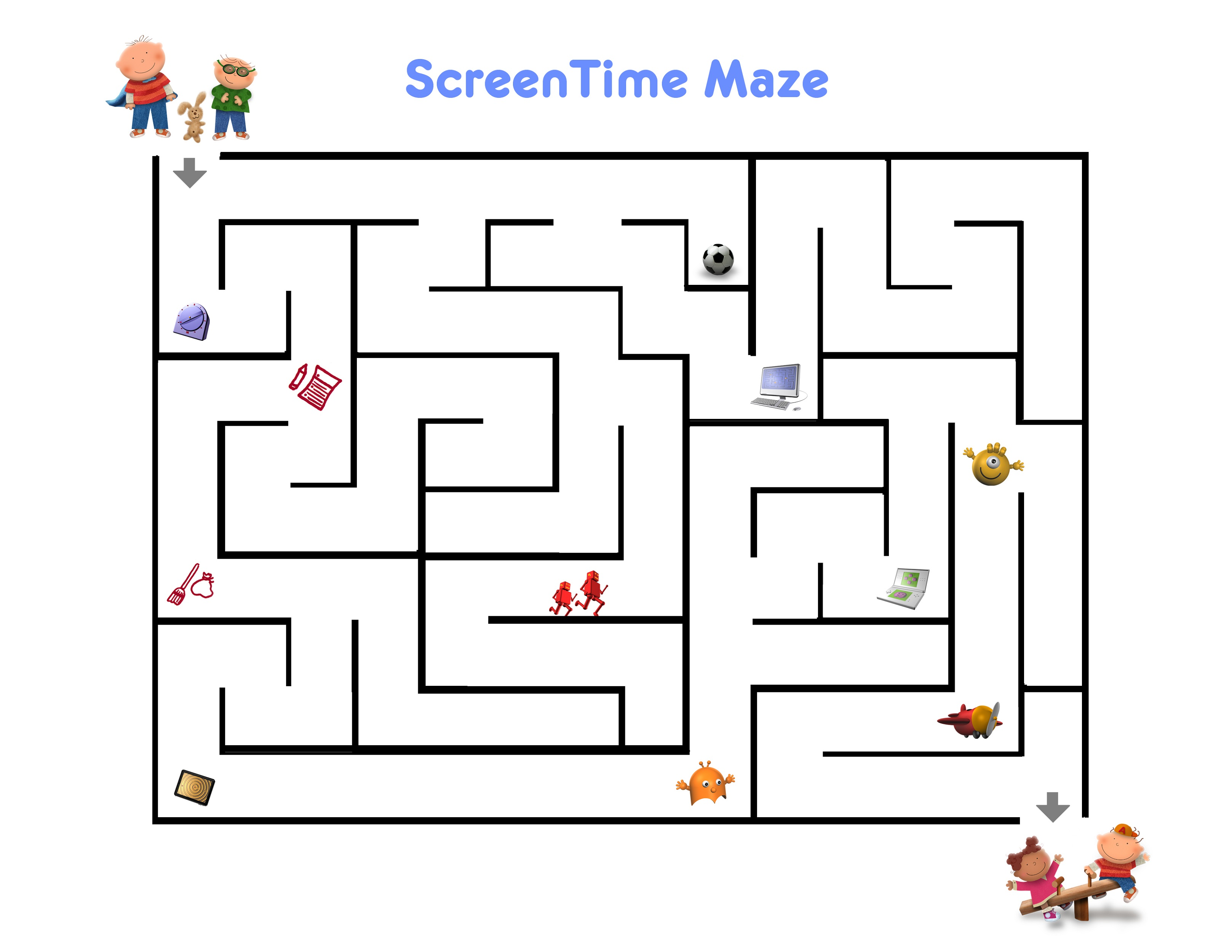 Printable Fun Activities For 10 Year Olds Maze