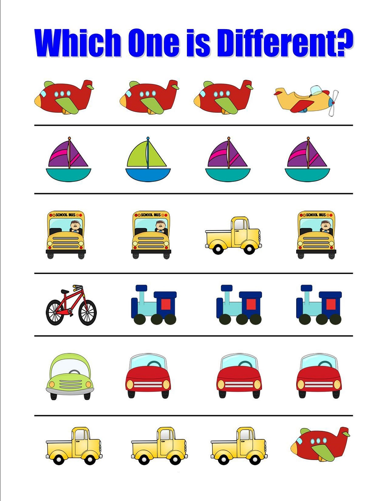 Printable Learning Activities For 2 Year Olds Transportation