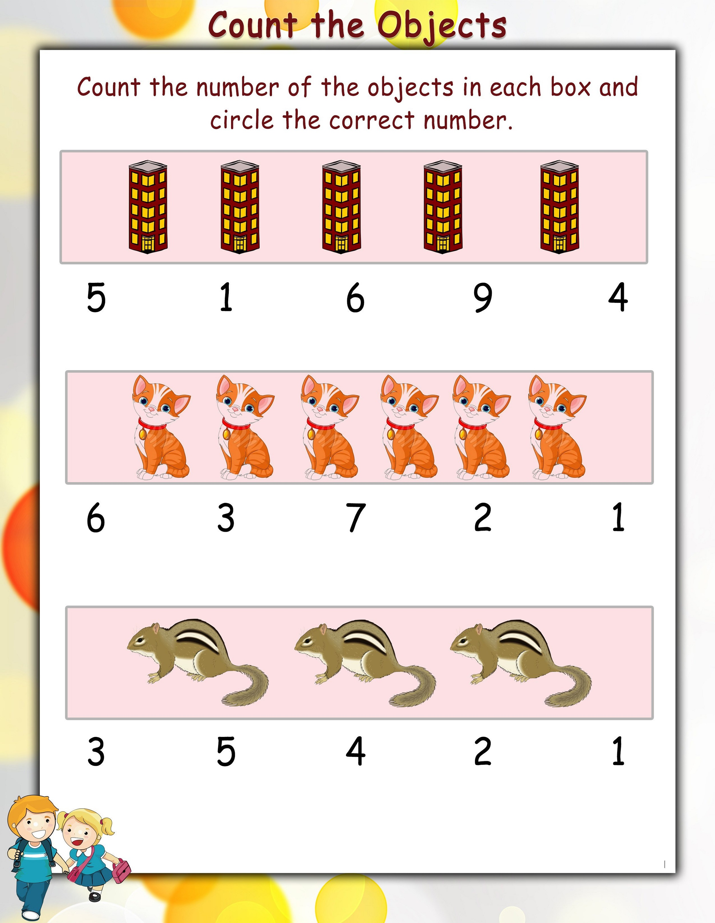 Printable Math Practice Worksheets Counting