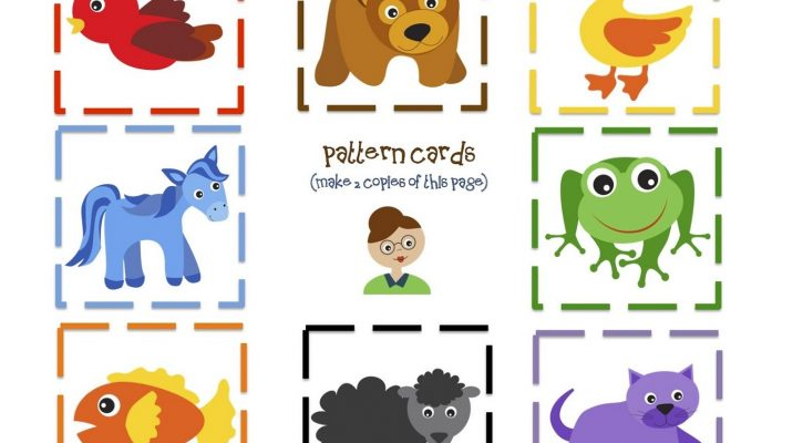 Printable Preschool Books Pattern Cards