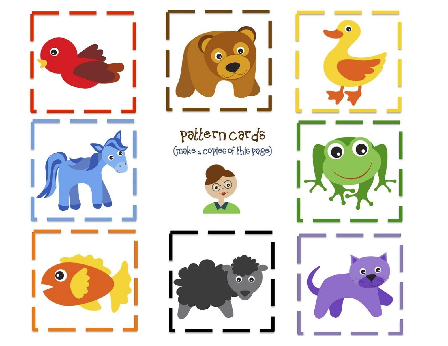 Printable Preschool Books Pattern Cards