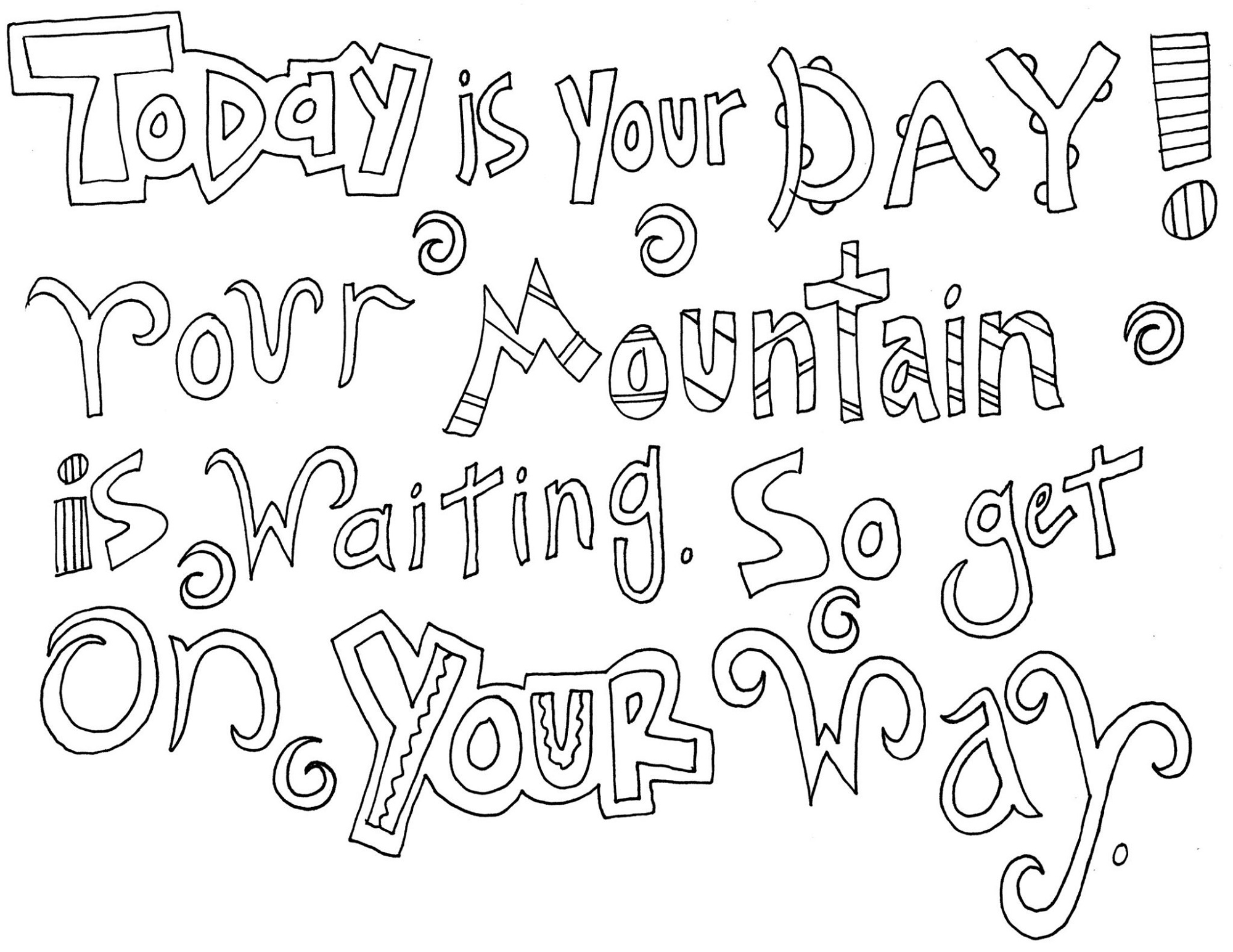 Quote Coloring Pages Doodle