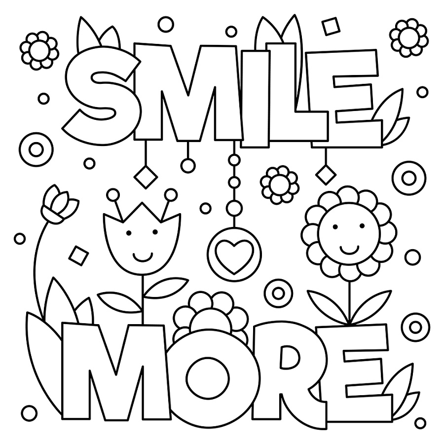 Quote Coloring Pages For Kids