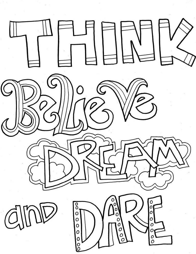 Quote Coloring Pages Free