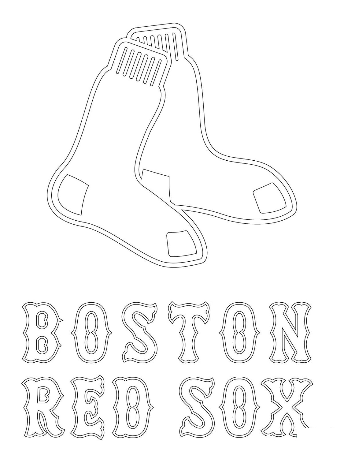 Red Sox Coloring Pages Boston