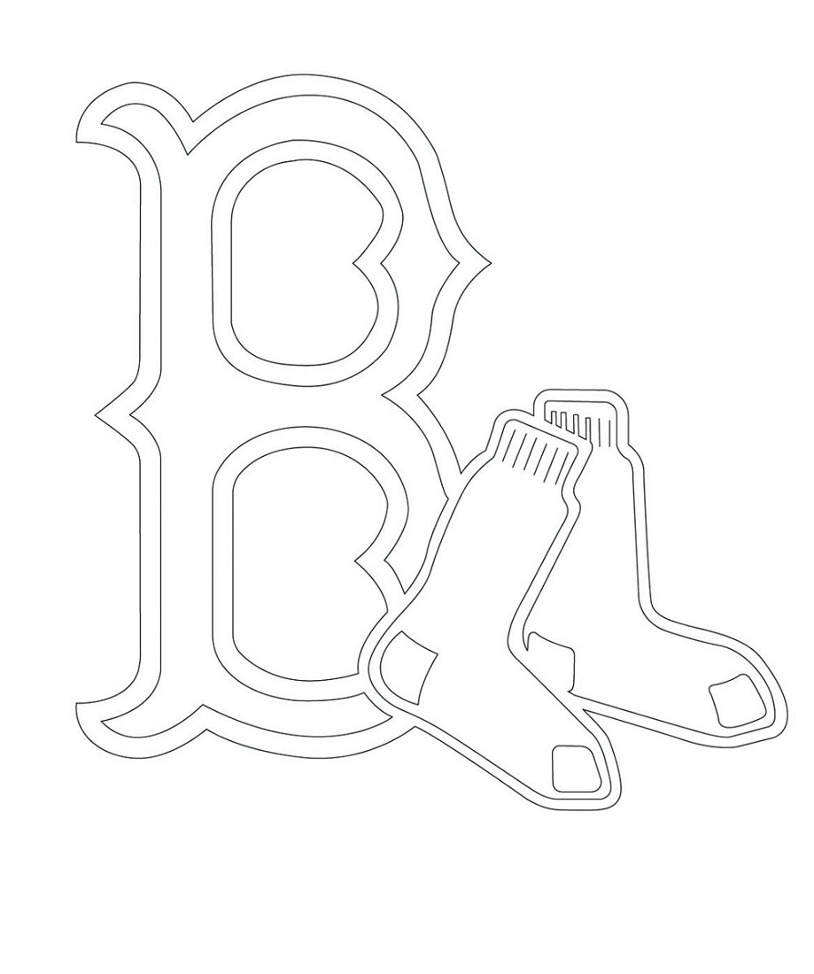 Red Sox Coloring Pages Free