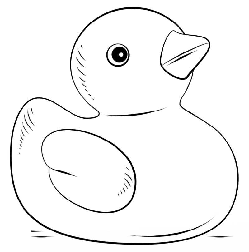 Rubber Duck Coloring Pages