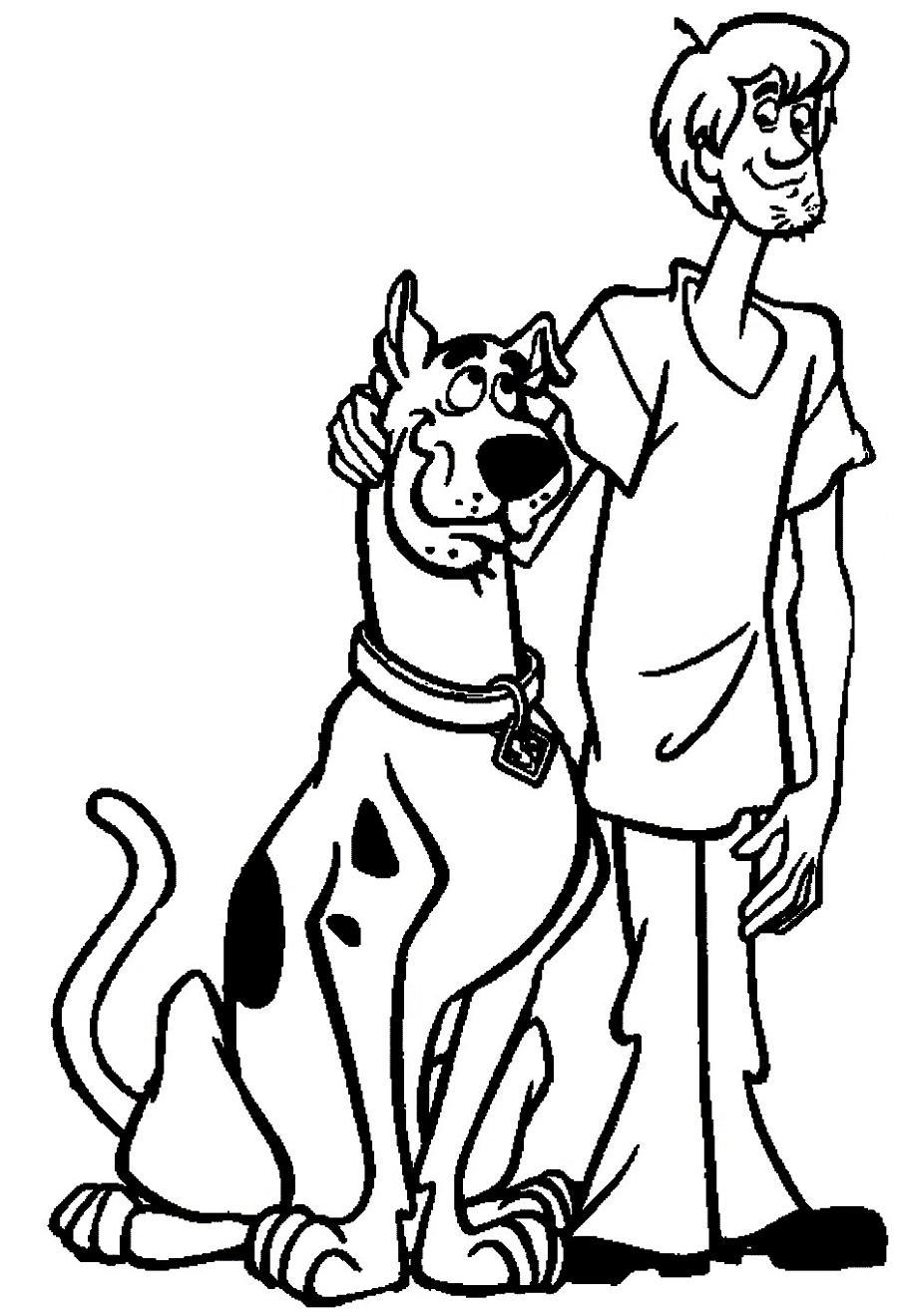 Scooby Doo Coloring Pages And Shaggy