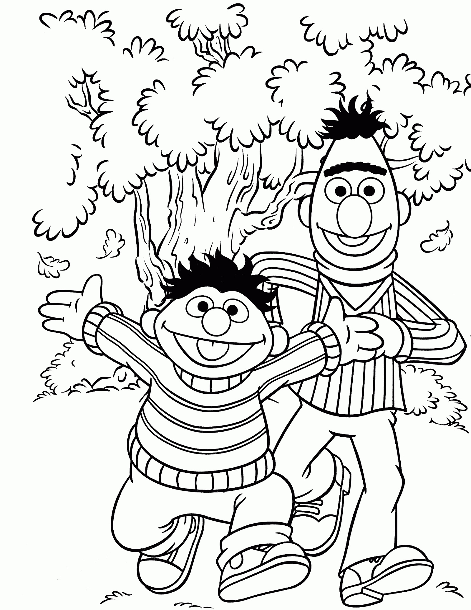 Sesame Street Coloring Pages Bert And Ernie