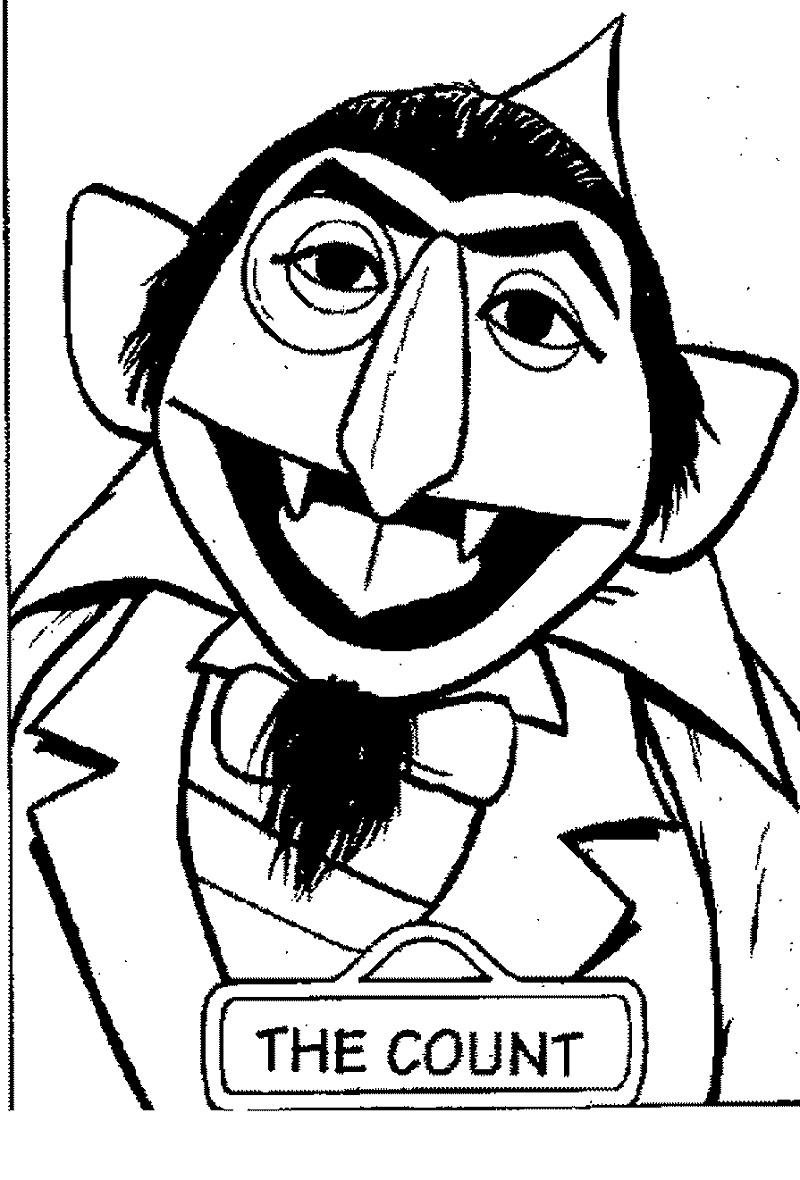 Sesame Street Coloring Pages Count Dracula
