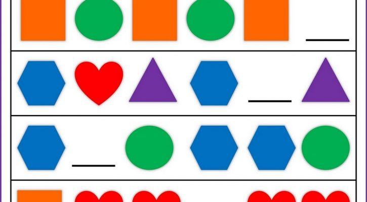 Simple Math Worksheets Printable Pattern