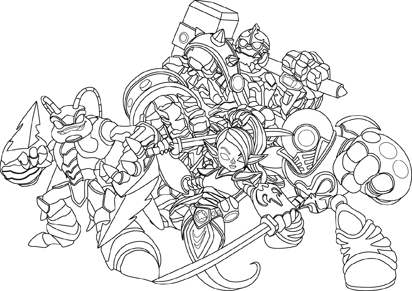 Skylanders Imaginators Coloring Pages Characters