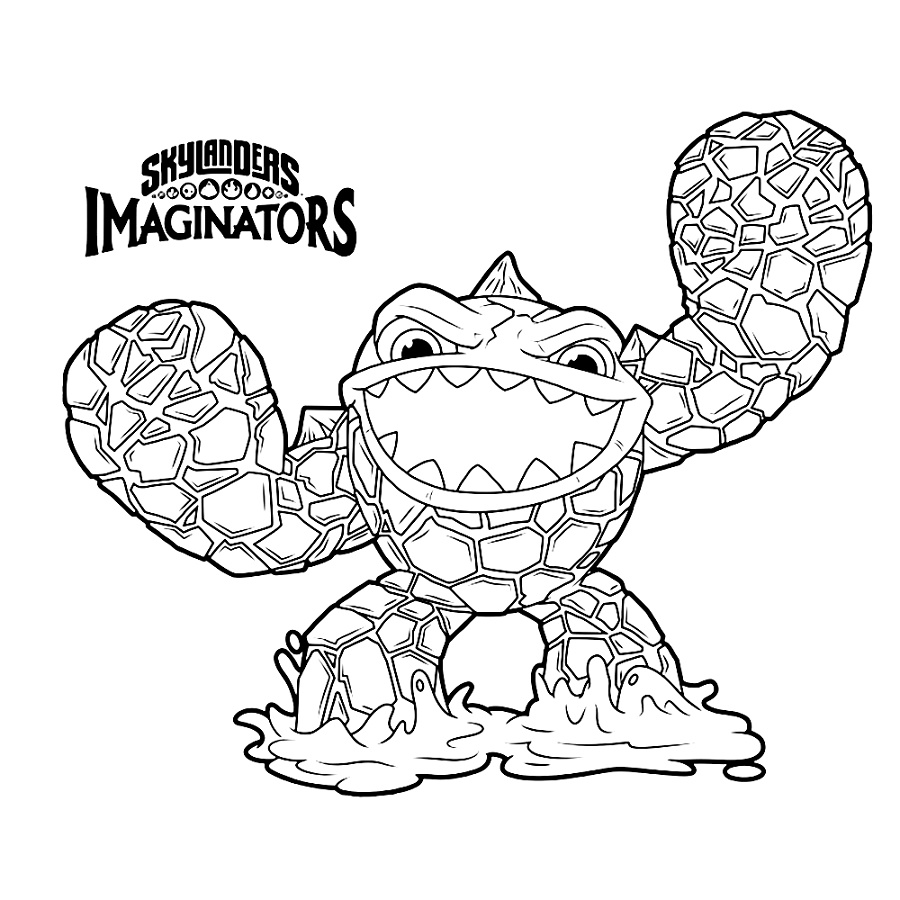 Skylanders Imaginators Coloring Pages Eruptor