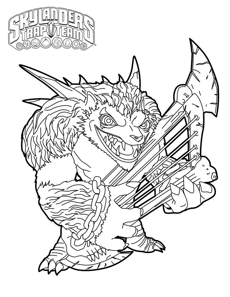 Skylanders Imaginators Coloring Pages Free