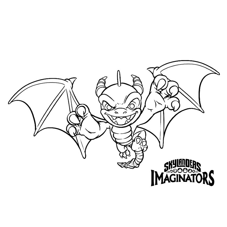 Skylanders Imaginators Coloring Pages Spyro