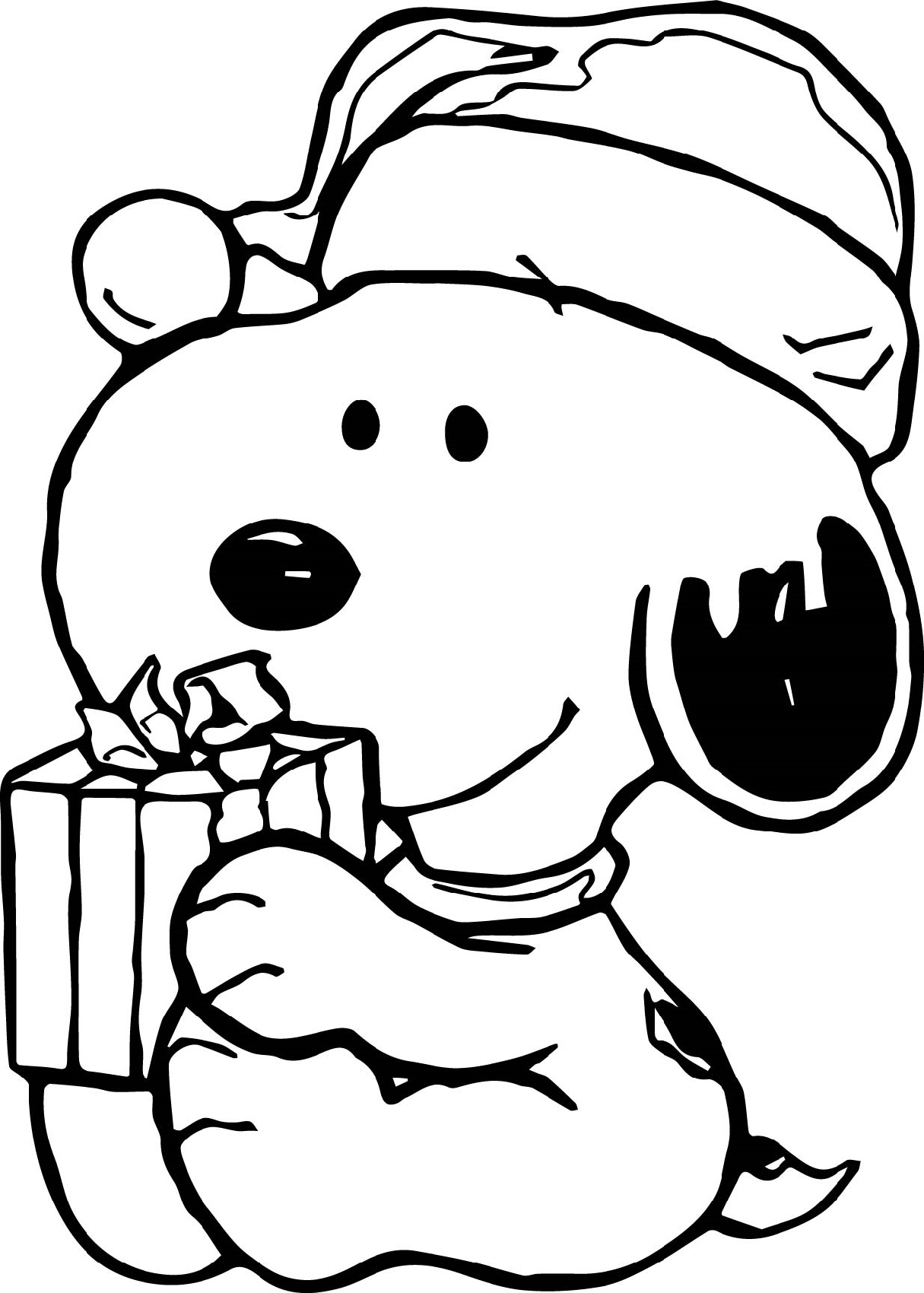 Snoopy Christmas Coloring Pages Gift
