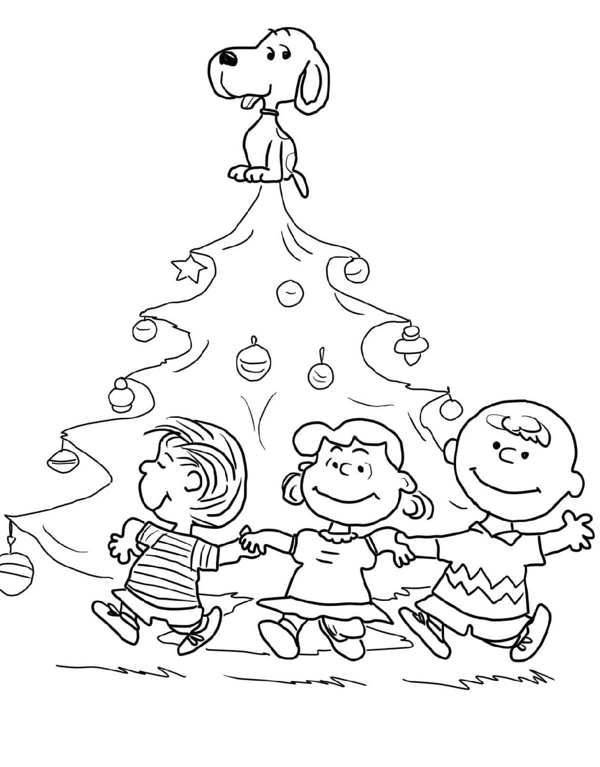 Snoopy Christmas Coloring Pages Printable