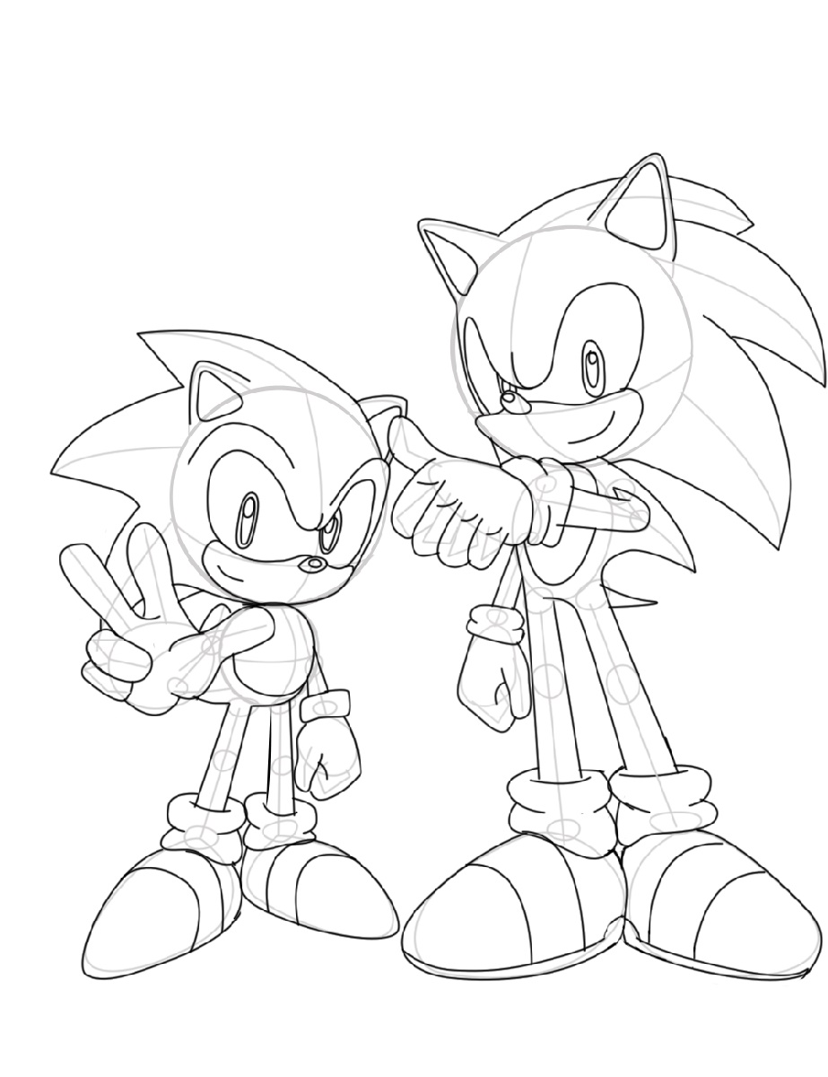 Sonic Coloring Pages Generations