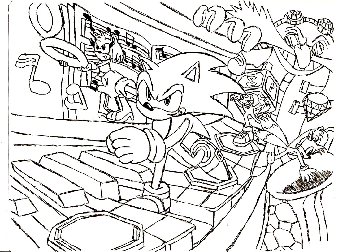 Sonic Coloring Pages Pictures