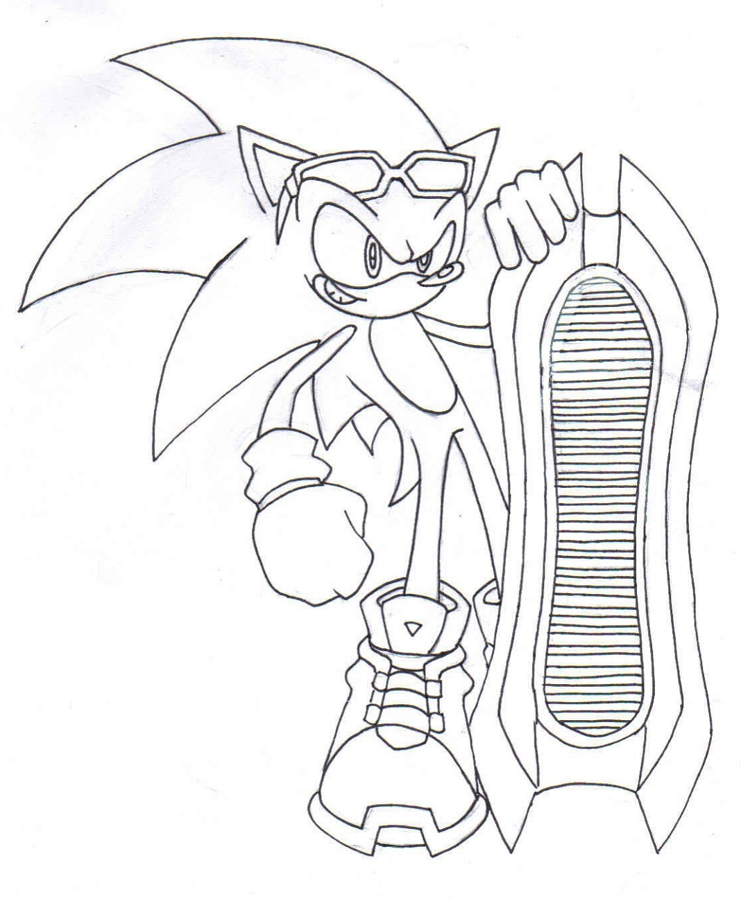 Sonic Coloring Pages Riders