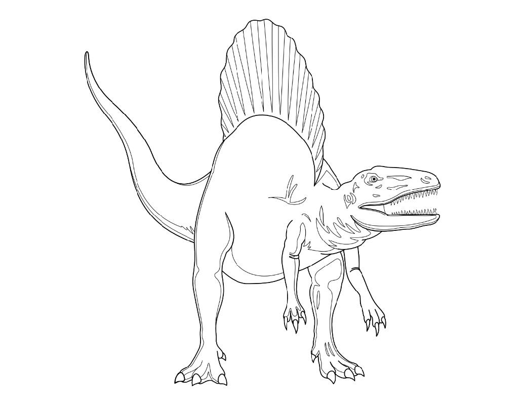 Spinosaurus Coloring Page Jurrasic