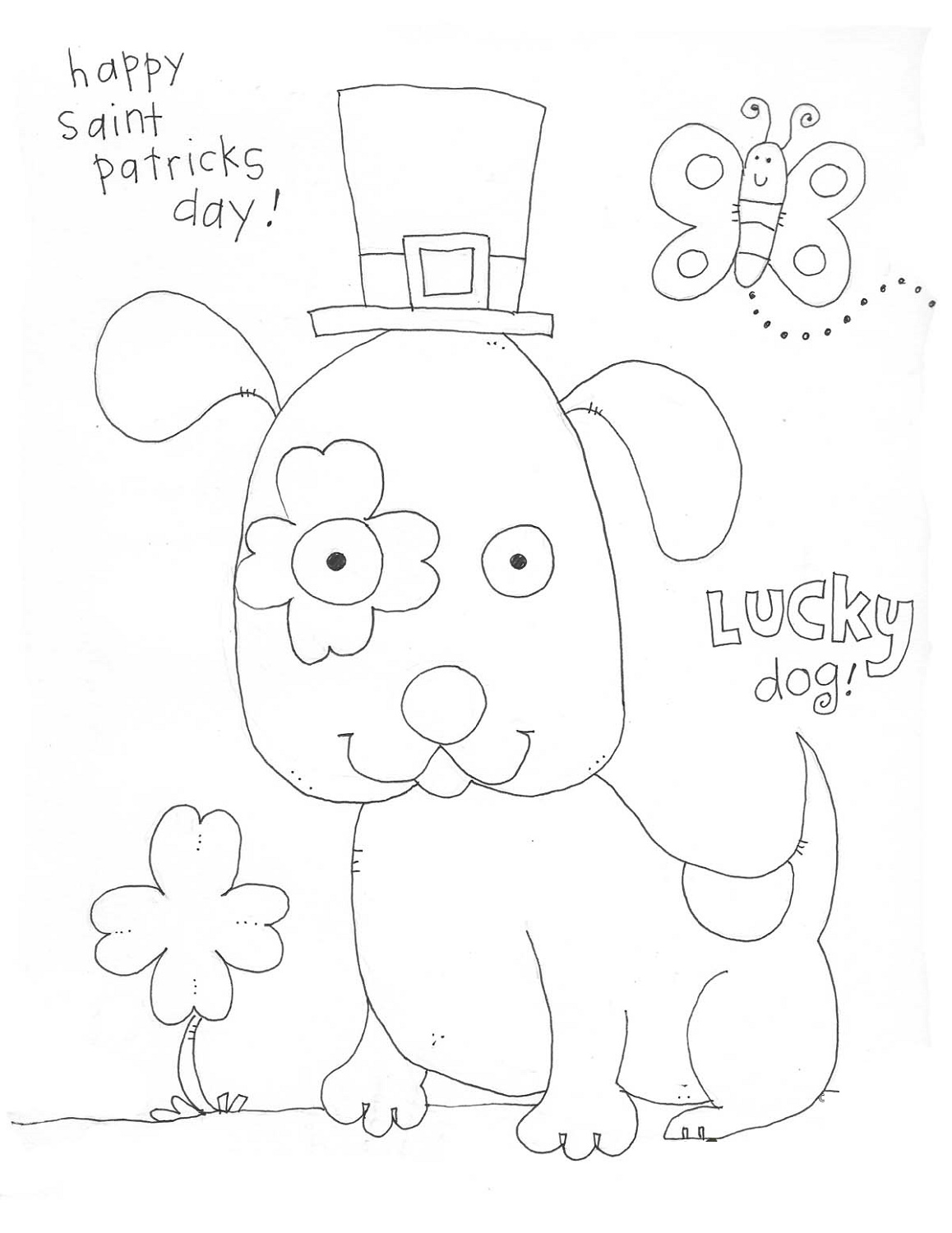 St Patrick's Day Coloring Sheets For Preschoolers