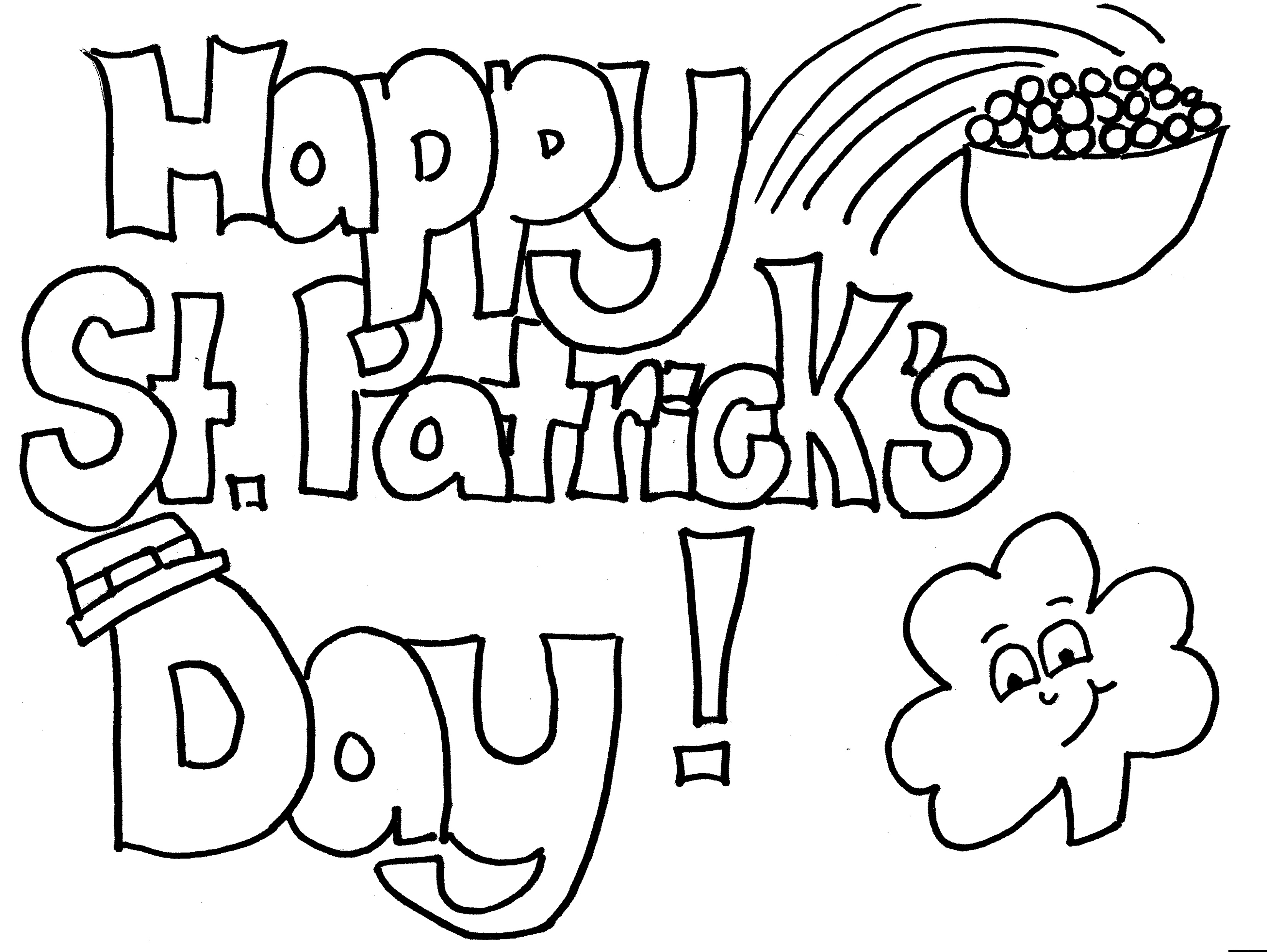 St Patrick's Day Coloring Sheets Free