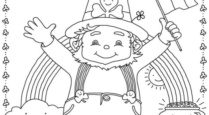 St Patrick's Day Coloring Sheets Printable