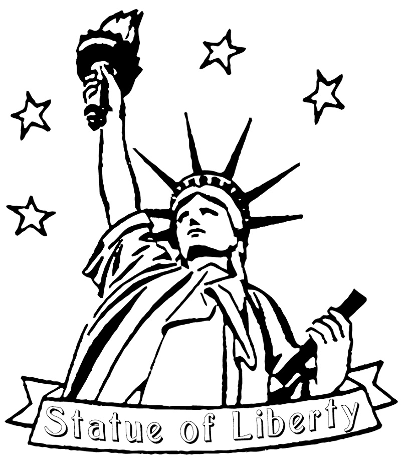 Statue Of Liberty Coloring Page Easy