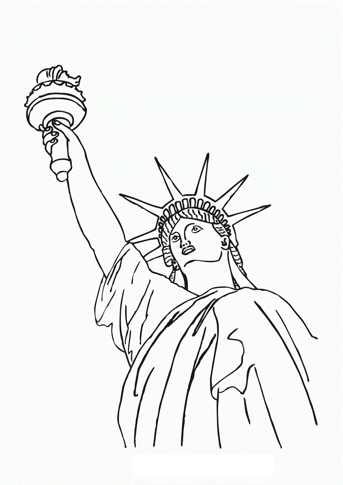 Statue Of Liberty Coloring Page Free