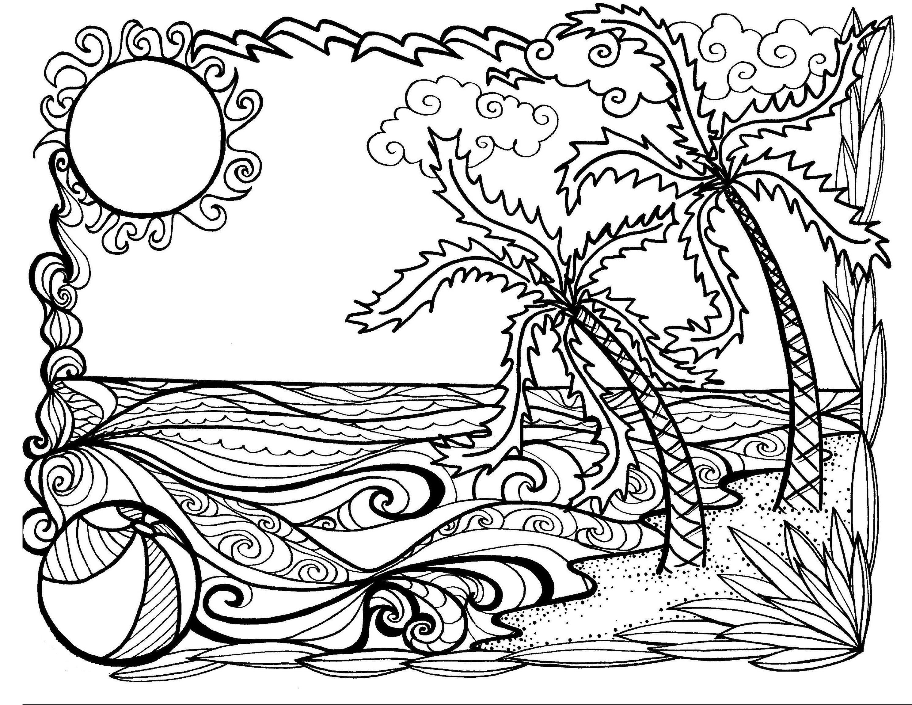 Summer Coloring Sheets For Adults