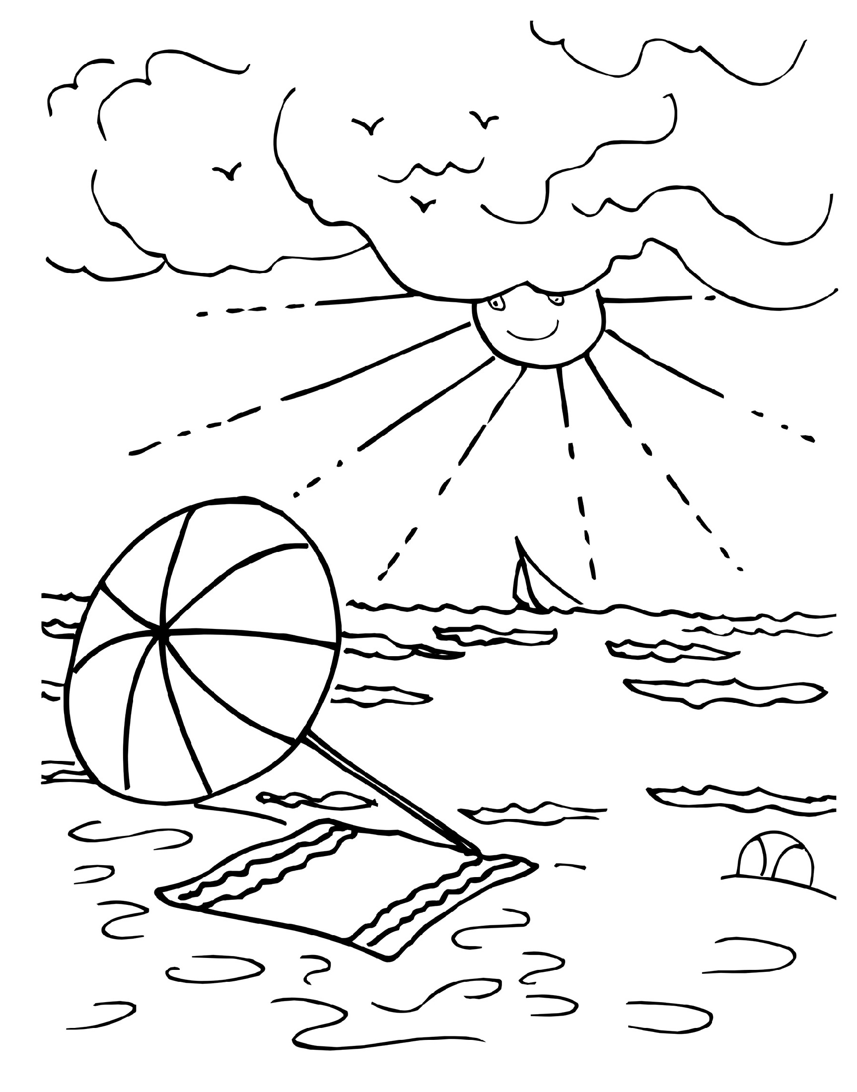 Summer Coloring Sheets Free