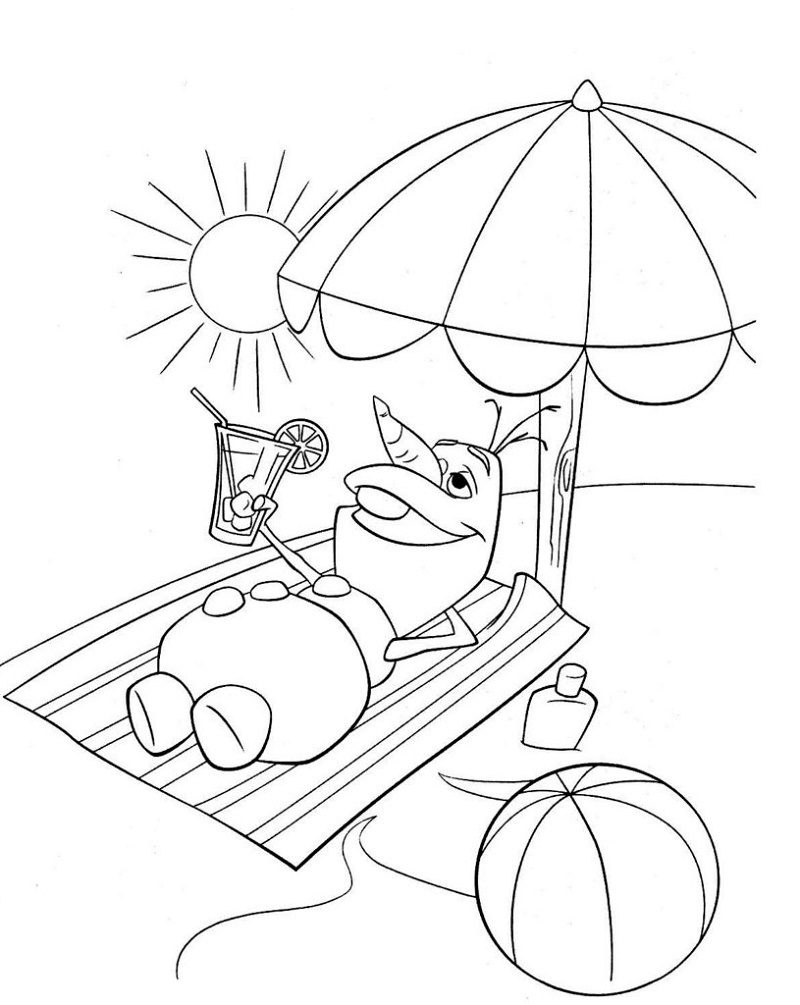 Summer Coloring Sheets Olaf