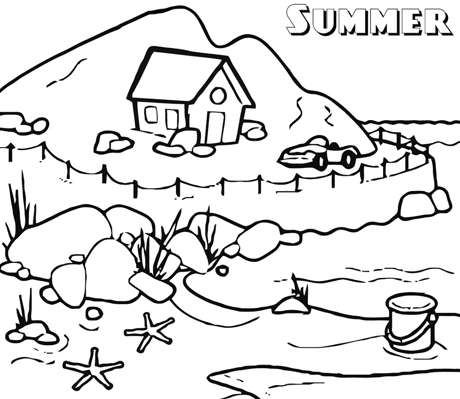 Summer Coloring Sheets Printable
