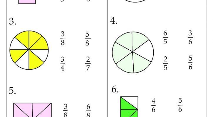 Third Grade Math Worksheets Fraction