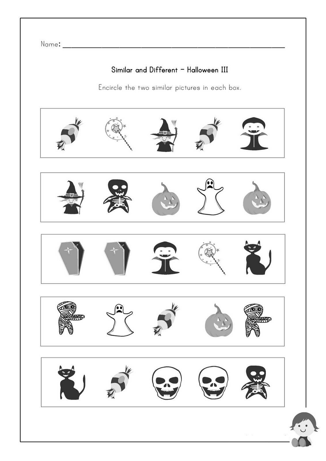 Toddler Activity Worksheets Halloween