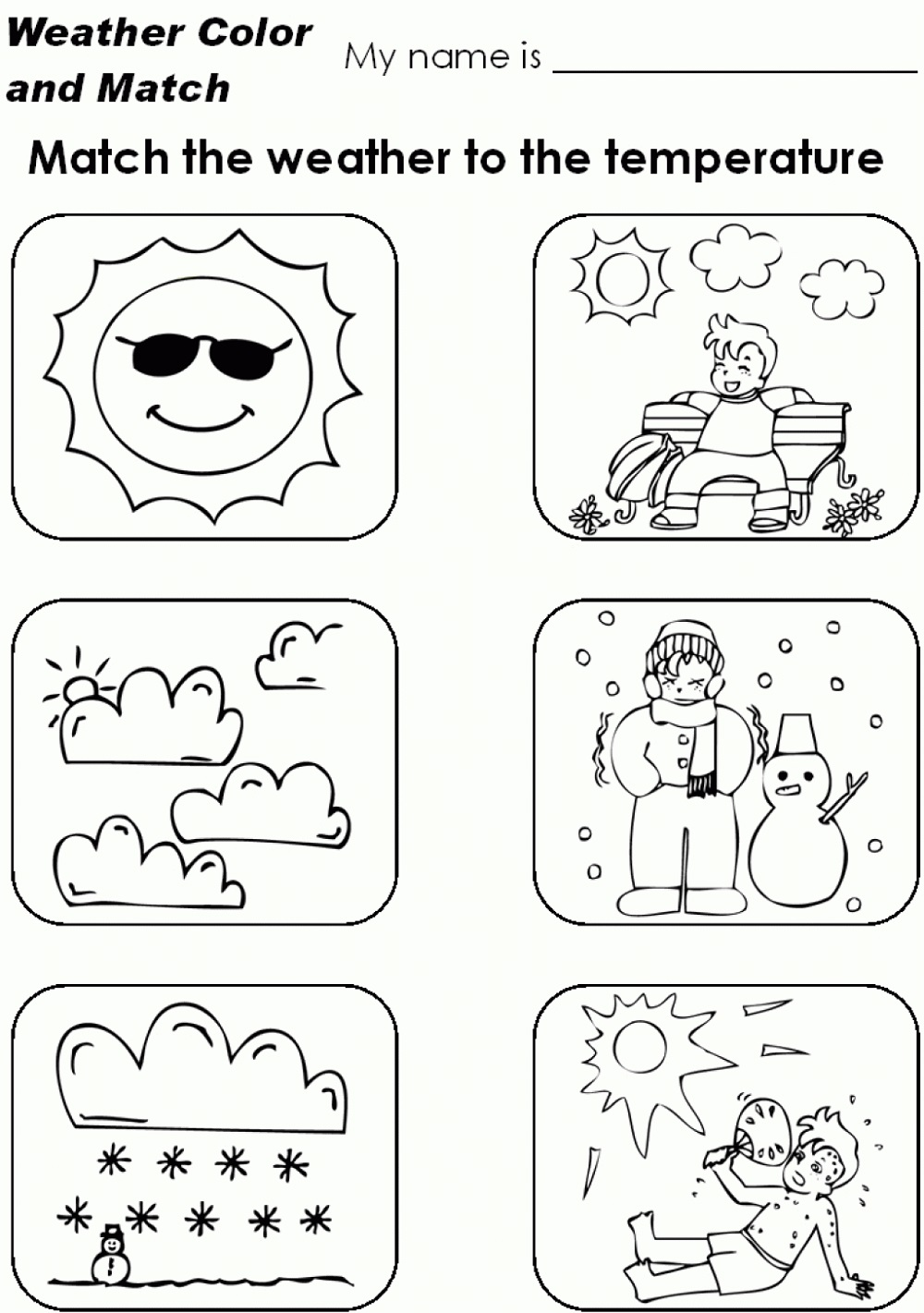 Toddler Activity Worksheets Weather