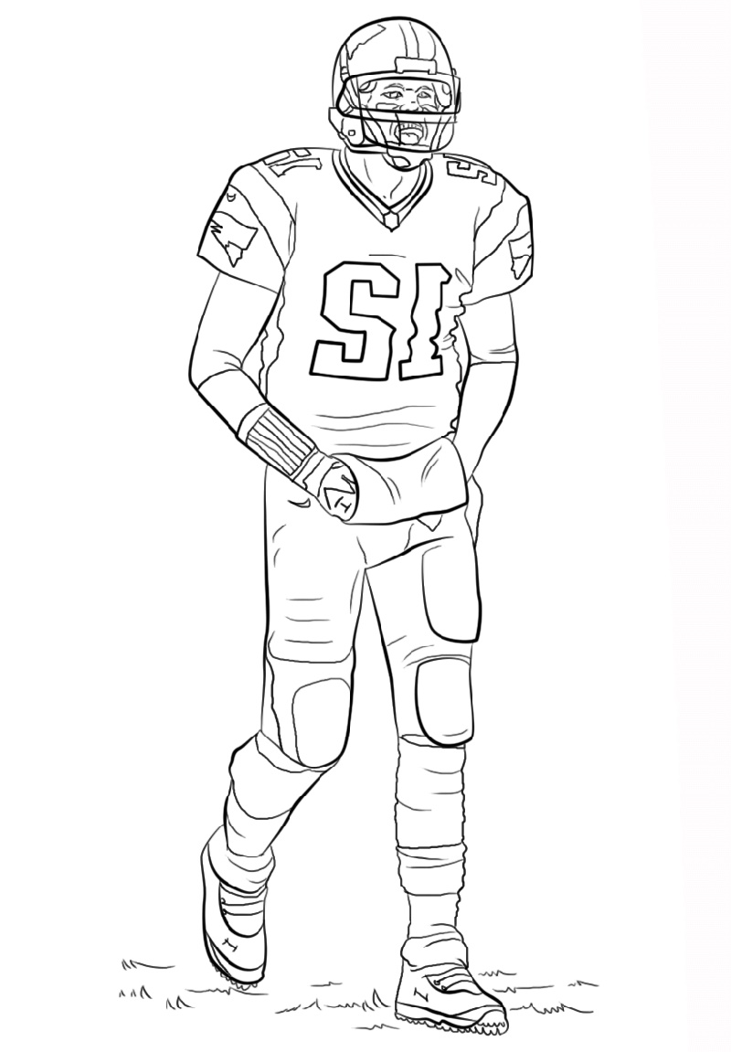 Tom Brady Coloring Pages Free
