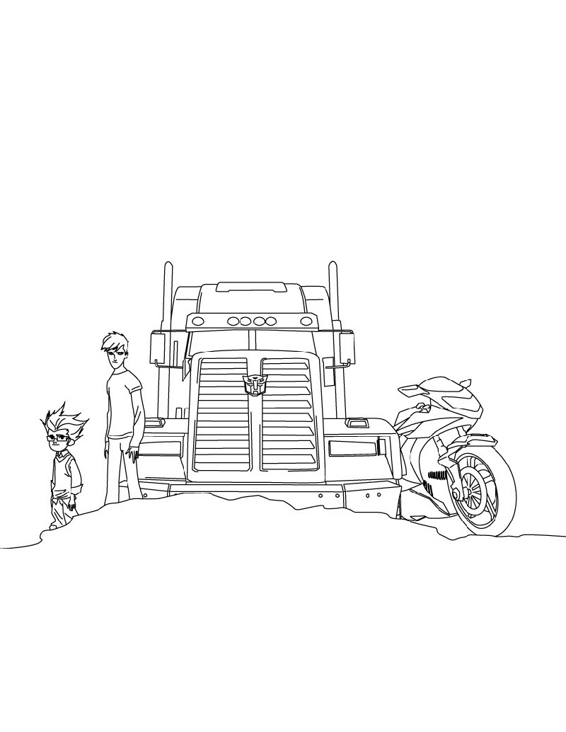 Transformer Coloring Pages Optimus Prime For Kids