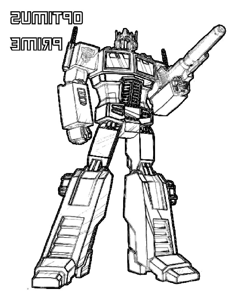 Transformer Coloring Pages Optimus Prime Free