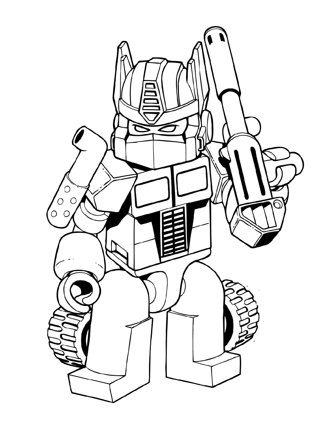 Transformer-Coloring-Pages-Optimus-Prime-Lego