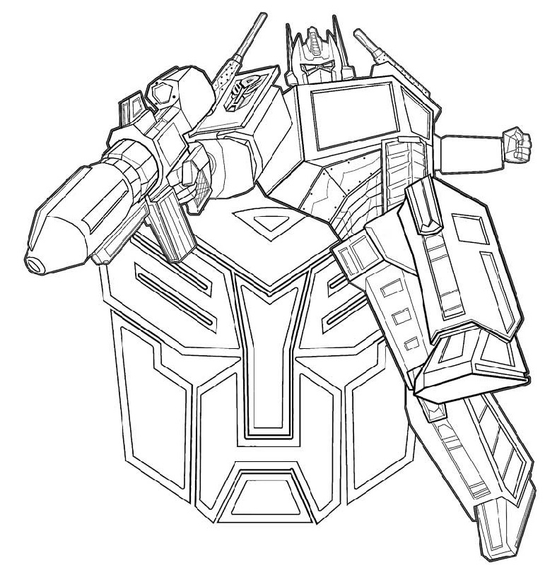 Transformer Coloring Pages Optimus Prime To Print