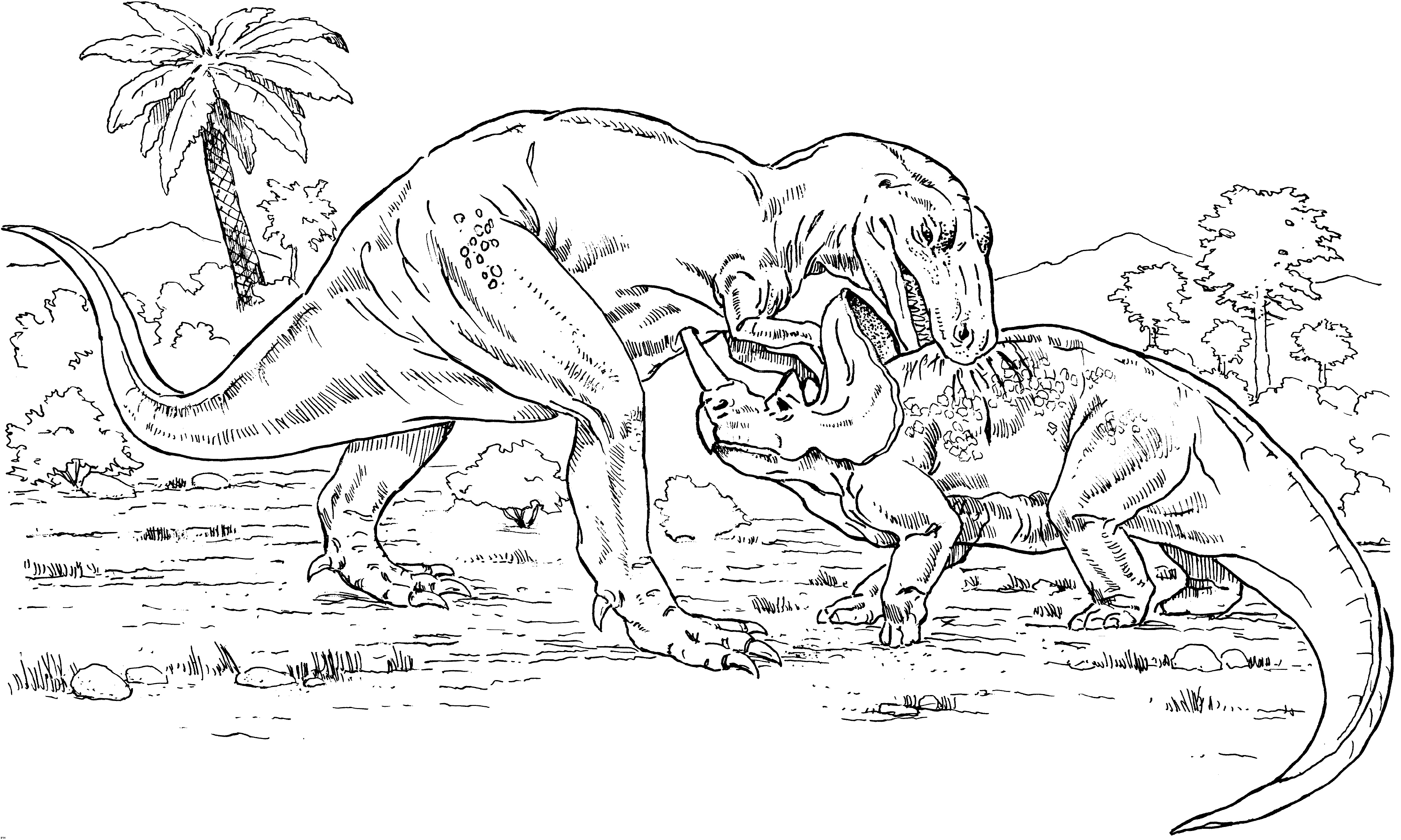 Tyrannosaurus Rex Coloring Page For Adult