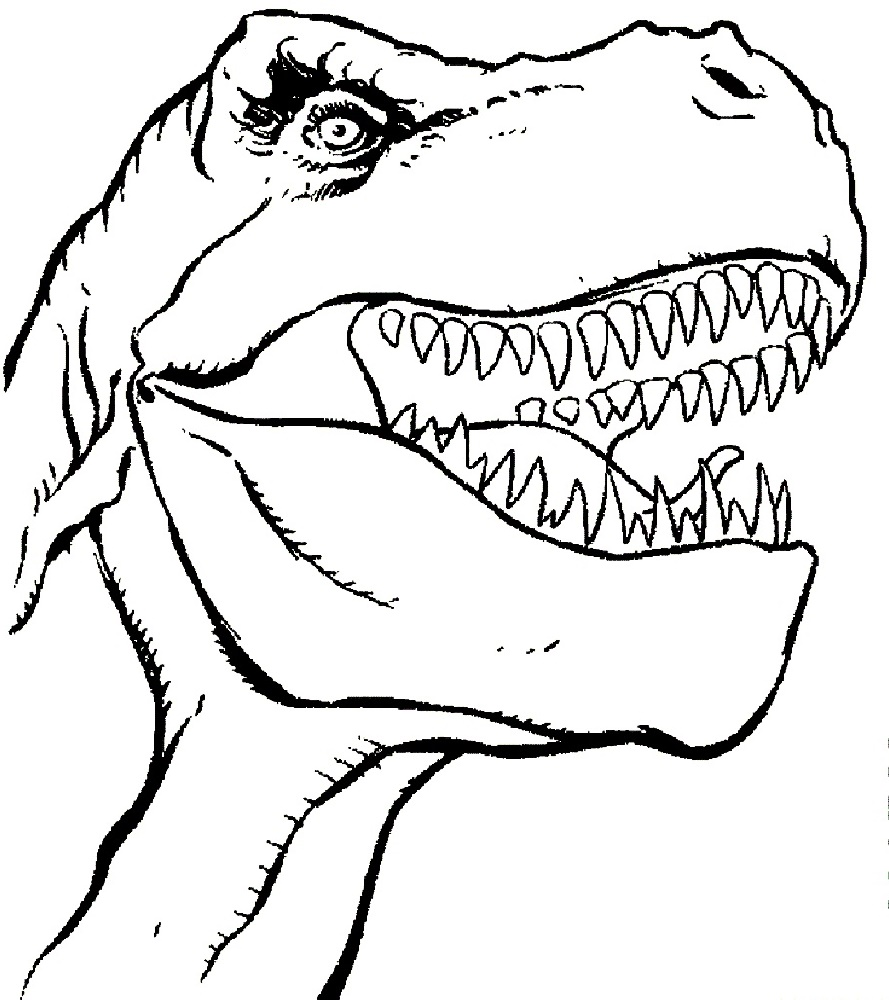Tyrannosaurus Rex Coloring Page To Print