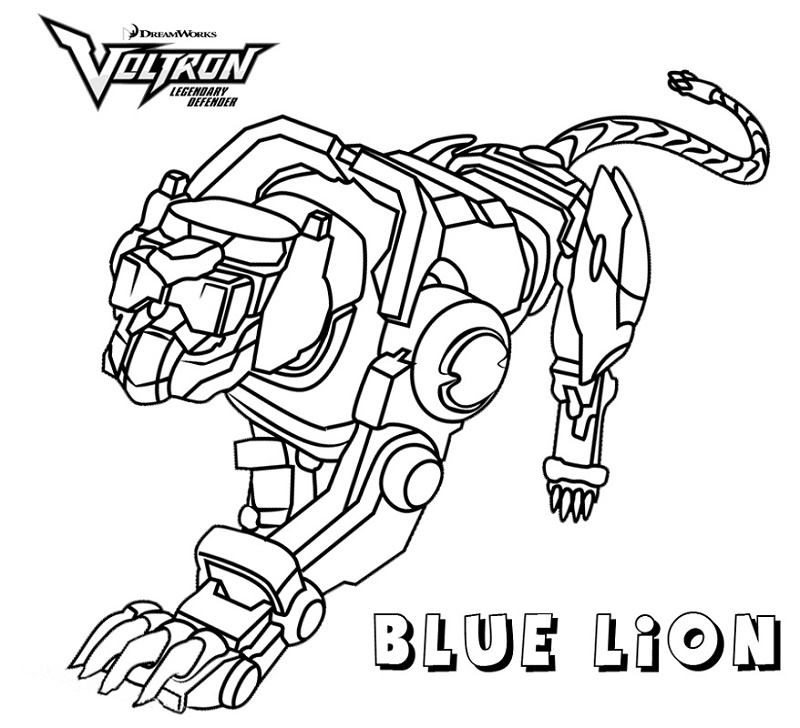 Voltron Coloring Pages Blue Lion