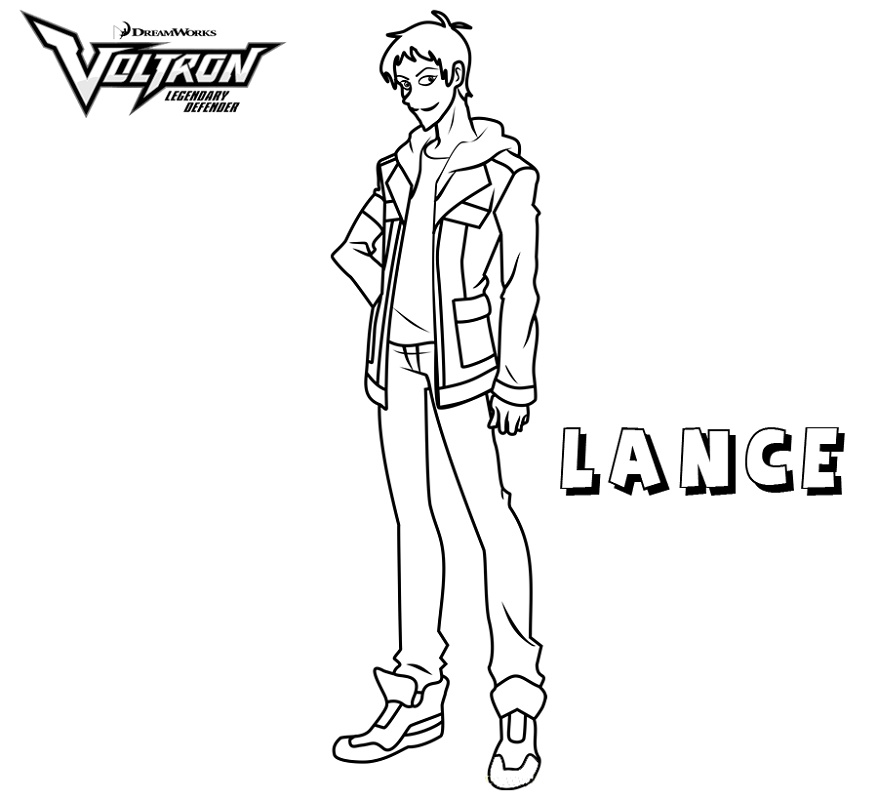 Voltron Coloring Pages Lance