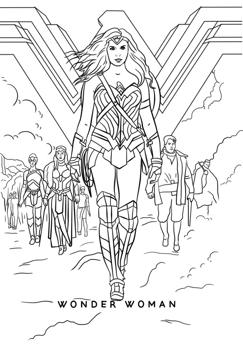 Wonder Woman Coloring Pages Movie