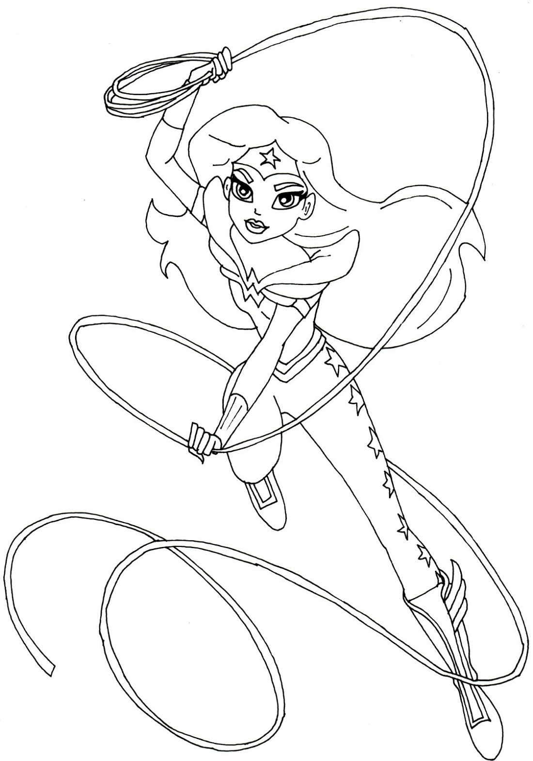 Wonder Woman Coloring Pages Printable